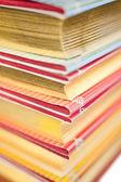 堆栈的收藏书籍 — 图库照片