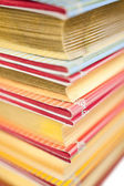 Stack of collectible books — Stock Photo