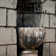 Architectural design - stone cup — Stock Photo