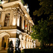 Roznovanu Palace by night - the actual Iasi City Hall - Stock Photo