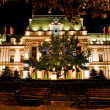 Roznovanu Palace by night - the actual Iasi City Hall — Stock Photo