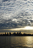 Vancouver in clouds — Stock Photo