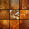 Set background rusty — Stock Photo