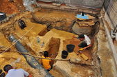 Portugal excavations, the skeleton — Stock Photo
