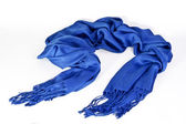 Blue scarf — Stock Photo