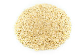 Rolled oats isolated on white background — Stock Photo