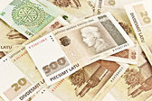 Latvian State five hundred lats banknotes and twenty lats bankno — Stock Photo