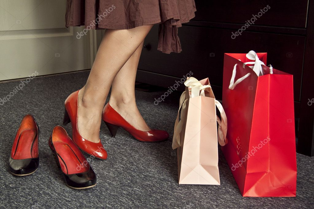  woman shoes and bags  Stock Photo #3637134