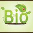 Bio eco plants — Stock Vector