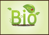 Bio eco plants — Stockvektor