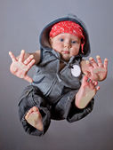 Baby boy in rap style — Stock Photo