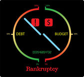 Bankruptcy — Stock Vector