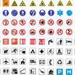 Stock Vector: 124 warning signs