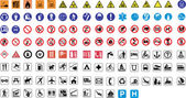 124 warning signs — Stock Vector