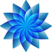 Abstract Blue Flower — Stock Vector