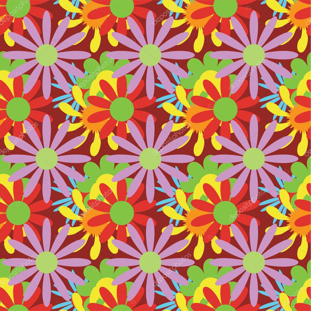 Floral vector seamless pattern — Stock Vector #3753569