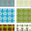 Seamless pattern pack — Stock Vector