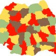Romanian counties - Image vectorielle