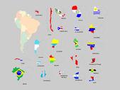 South America — Stock Vector