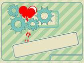 Técnico corazón roto — Vector de stock