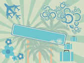 Abstract travel vector illustration — Stock Vector
