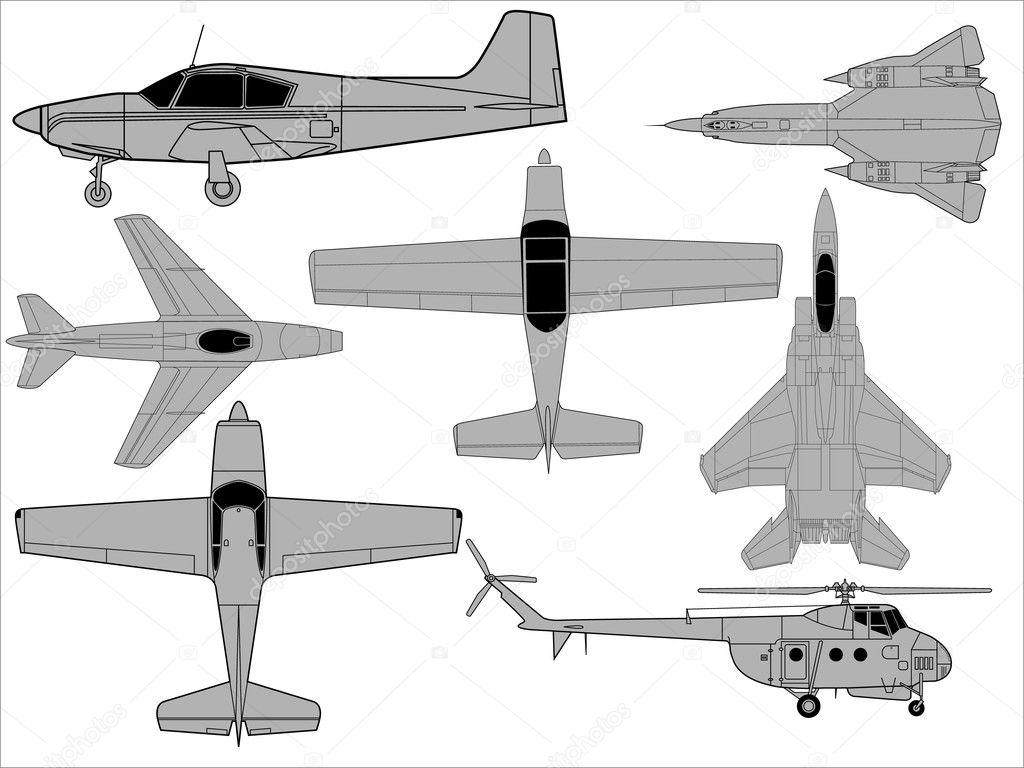 的各种飞机图纸