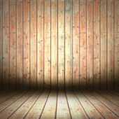 Wooden empty room — Stock Photo