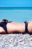 Brzuch młoda ładna dziewczyna — Zdjęcie stockowe