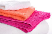 Rot, rosa und weißen handtücher — Stockfoto