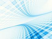 Paysage de la grille en bleu clair — Photo