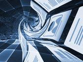 Document shredding vortex — Stock Photo