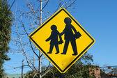 Traffic sign, school. — Stock Photo