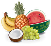 Fruits composition — Stock Photo