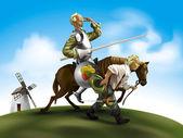 Don Quixote illustration — Stock Photo