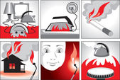 Illustration on fire safety — Stock Photo