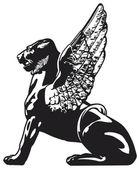 Griffin - mythical animal illustration — Stock Photo