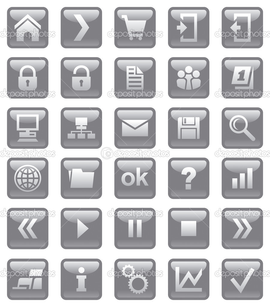 Web icons. Illustration for other uses — Stock Photo #3680561