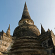 Stupa (chedi) of a Wat in Ayutthaya, Thailand — Stock Photo