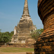 Stupa (chedi) of a Wat in Ayutthaya, Thailand — Stock Photo #3683243