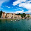 Lago di Garda in Italy in early spring — Foto Stock