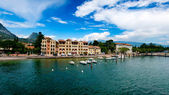 Lago di Garda in Italy in early spring — Stock Photo