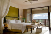Suite bed room of a luxury resort — Stok fotoğraf
