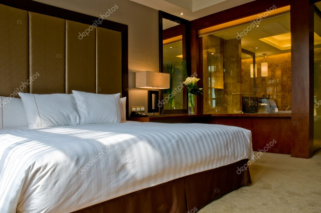 Bedroom of a elegant 5 star luxury hotel stock photo for 5 star bedroom designs
