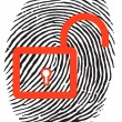 Finger Print with lock - Stock Vector