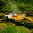 Hot Stream with mineral sediments — Stock Photo