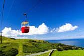Red cable car — Stock Photo
