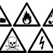 Stock Photo: Hazard Signs