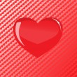 Royalty-Free Stock Vector Image: Vector red glass heart