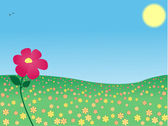 Flower in the meadow — Stock Vector