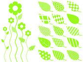 Vector leaf icon — Stock Vector